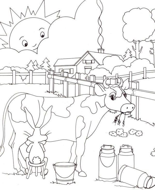 Coloriages page 9 for Disegno della fattoria americana