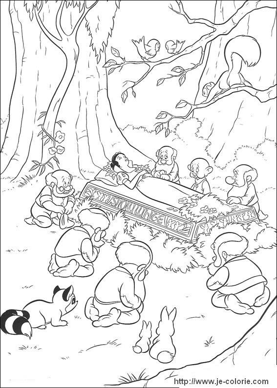 Coloriages Blanche Neige