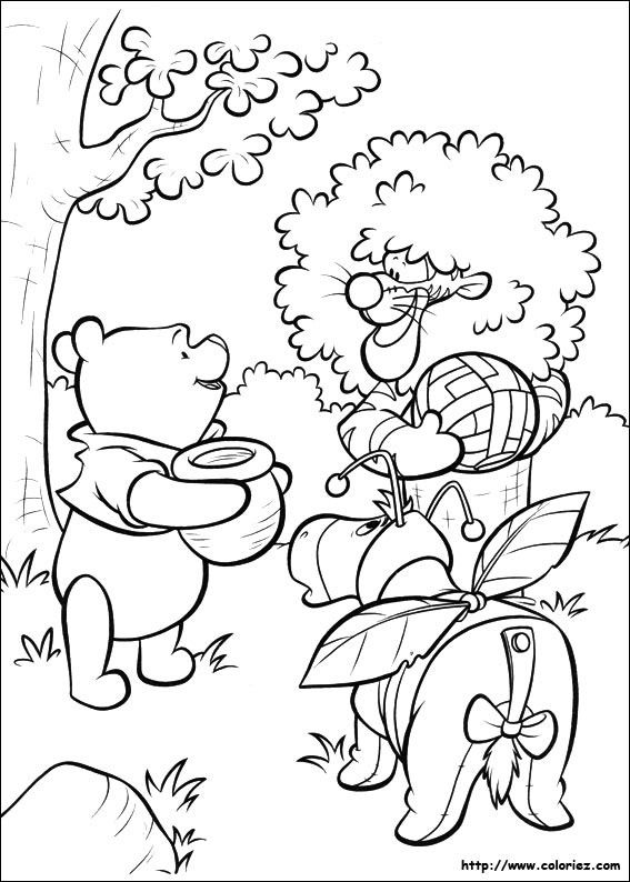 Coloriages winnie l 39 ourson - Coloriage winnie l ourson ...