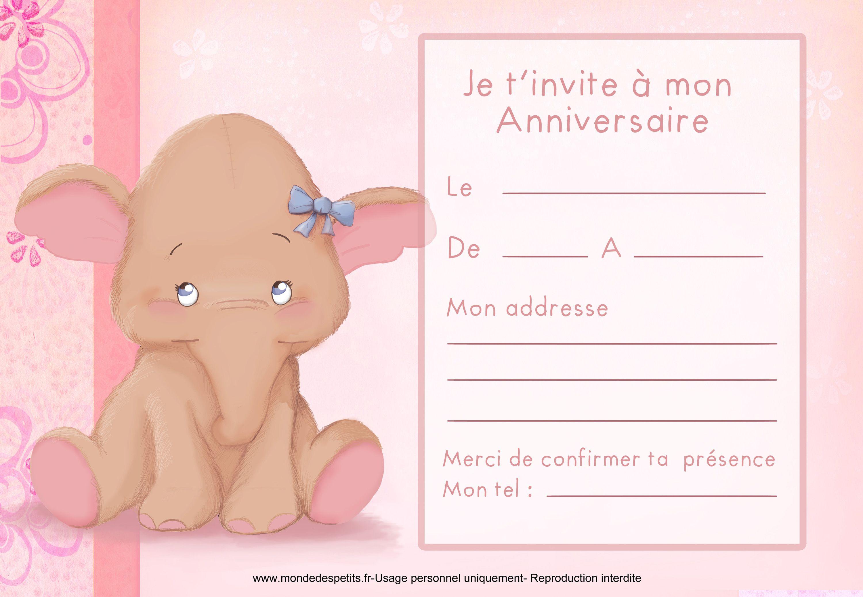 invitations anniversaires