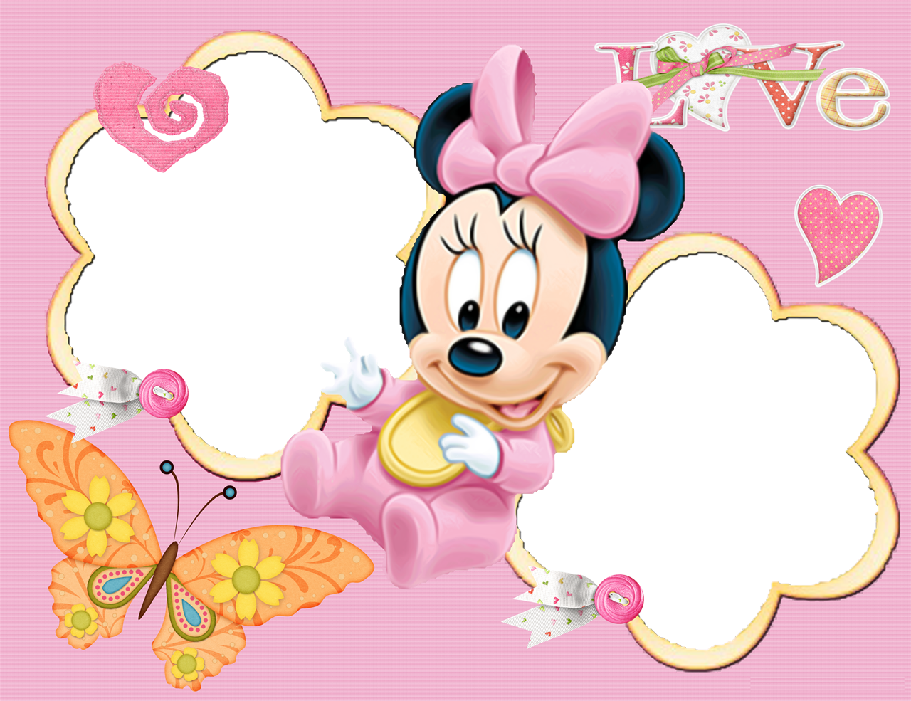 Minnie Mouse Baby Shower Borders | Car Interior Design